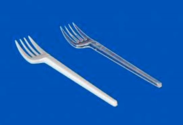 plastic cup fork