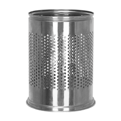TABLE SIX HOLES STAINLESS TRASH
