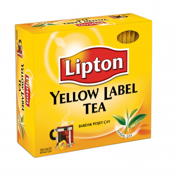 LIPTON YELLOW LABEL TEA BAGS GLASS
